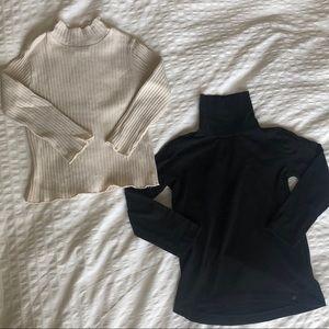 Zara girls 2 turtleneck shirts (size 6)
